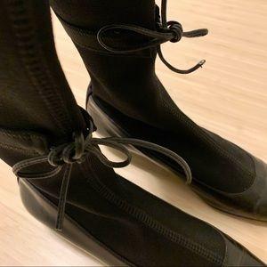 Prada Leather and Nylon Boot